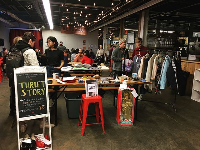 Some photos from our pop-up at @aeronautbrewing over the weekend. Thanks for donating and coming out! Sign up to receive alerts about future events on our website. Link in bio. #thriftstory