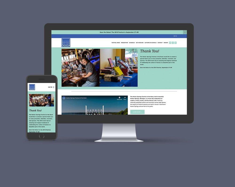 Harbor Springs Festival of the Book -  Website Design