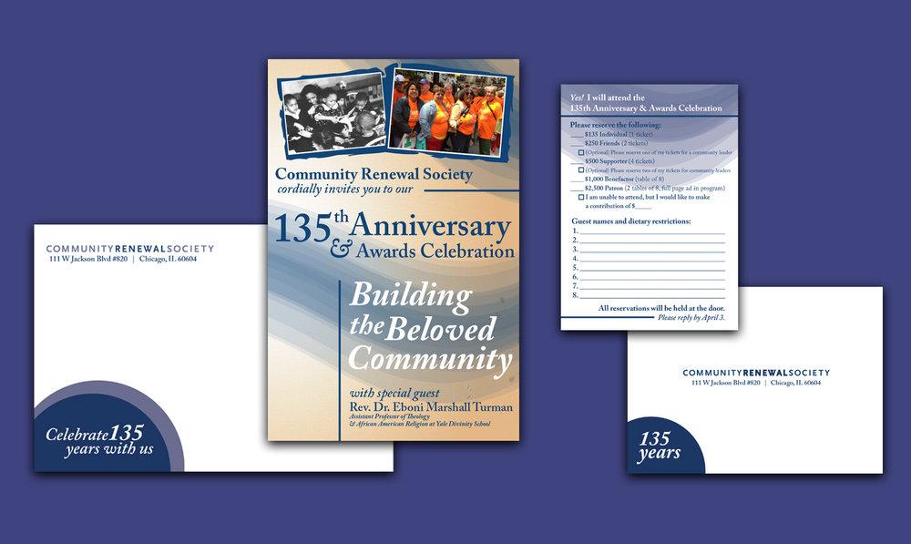 Community Renewal Society  - Annual Gala Invitation Suite