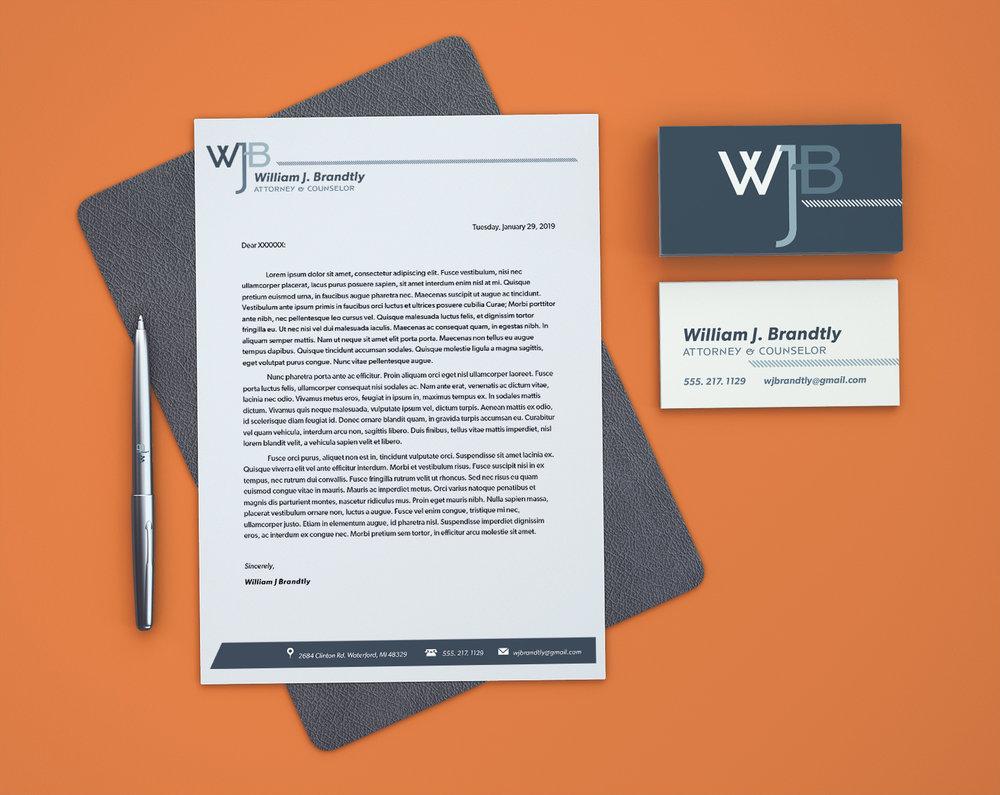 WJB  - Brand Identity, Business Card & Letterhead Design
