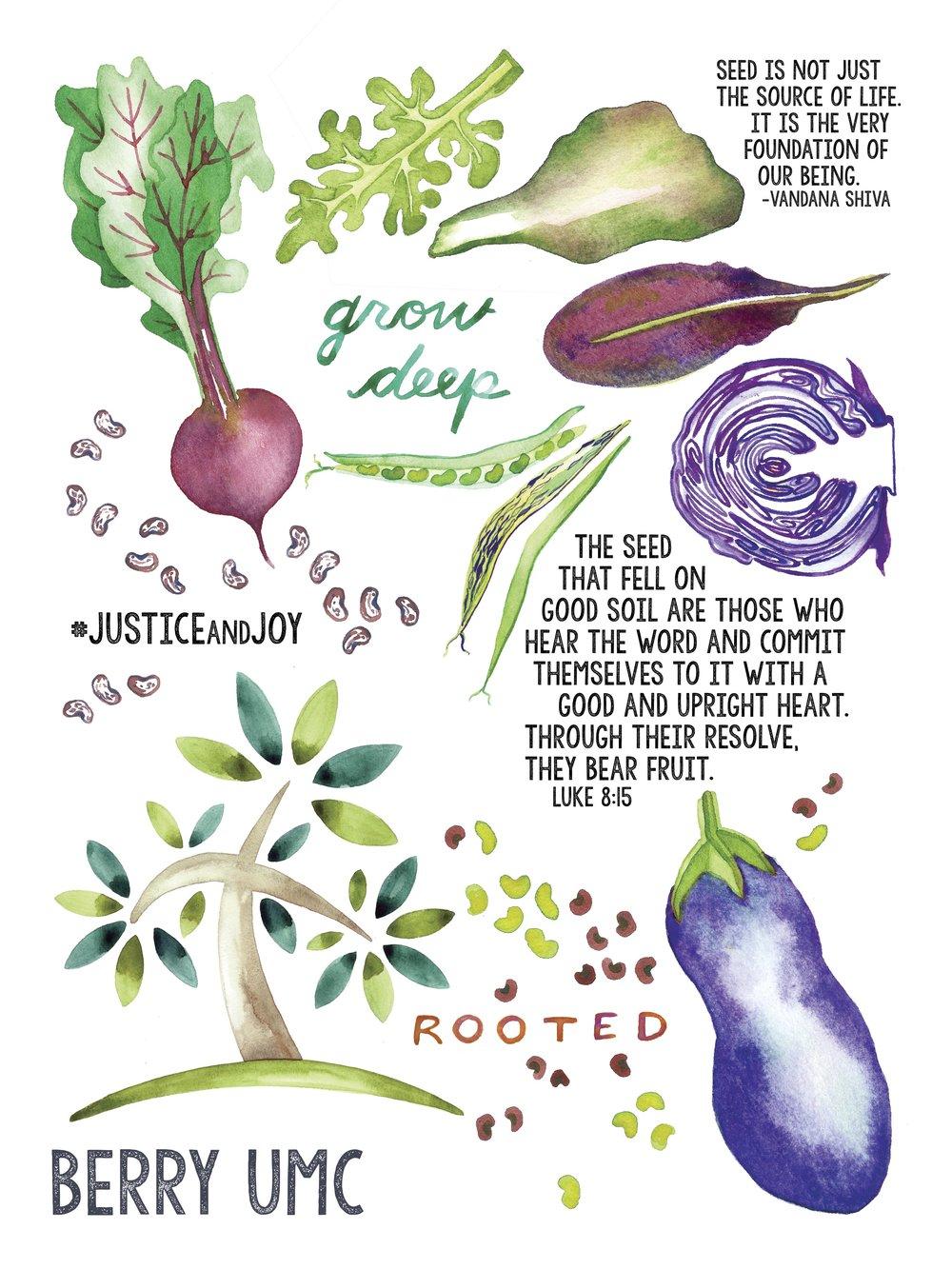 Berry United Methodist Church  - Brunch Church Poster Artwork & Design