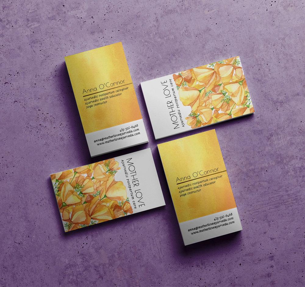 Mother Love  - Branding, Visual Identity & Business Card Design