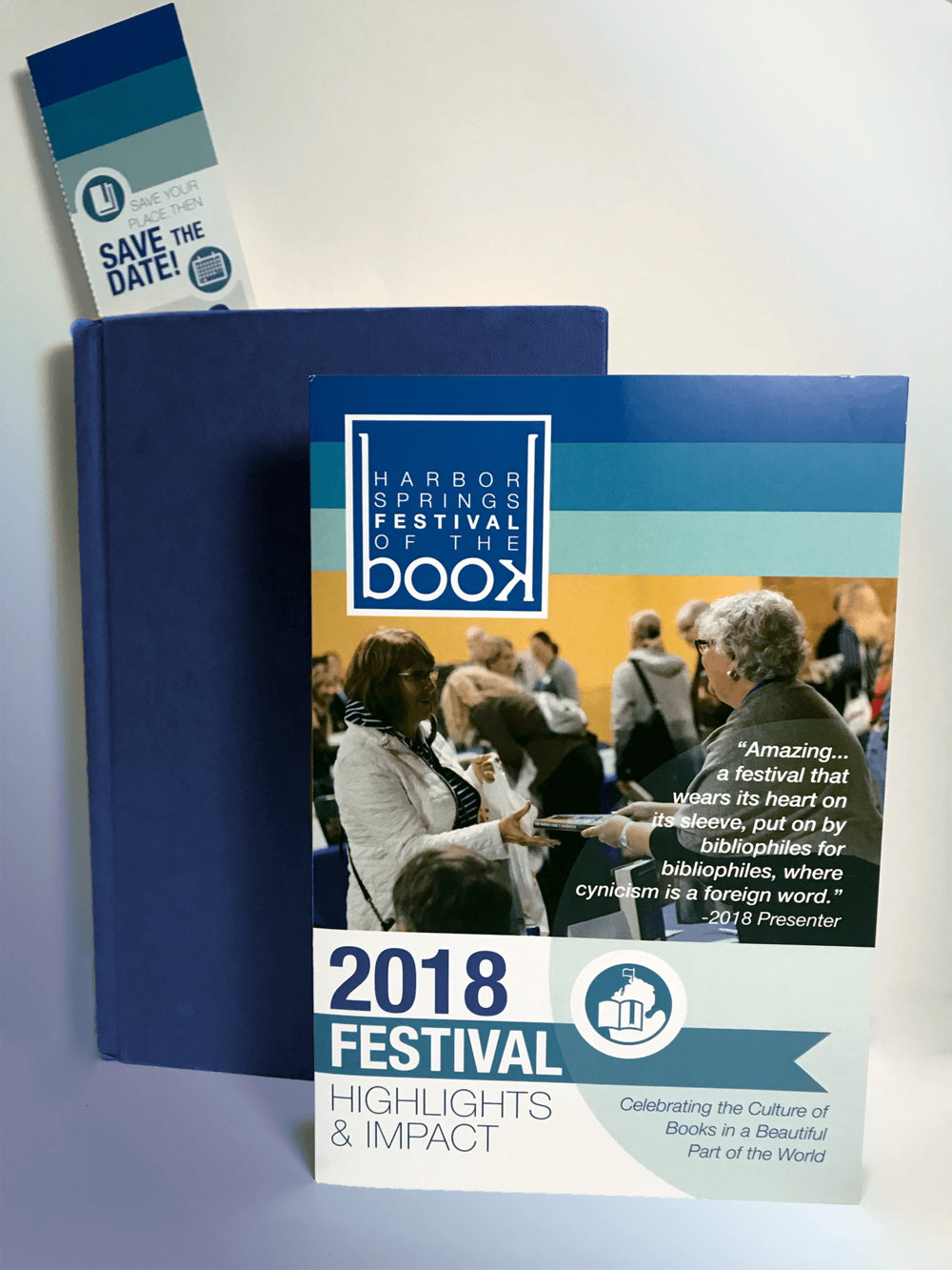 Harbor Springs Festival of the Book -  Post-Festival Summary Brochure & Save the Date Bookmark