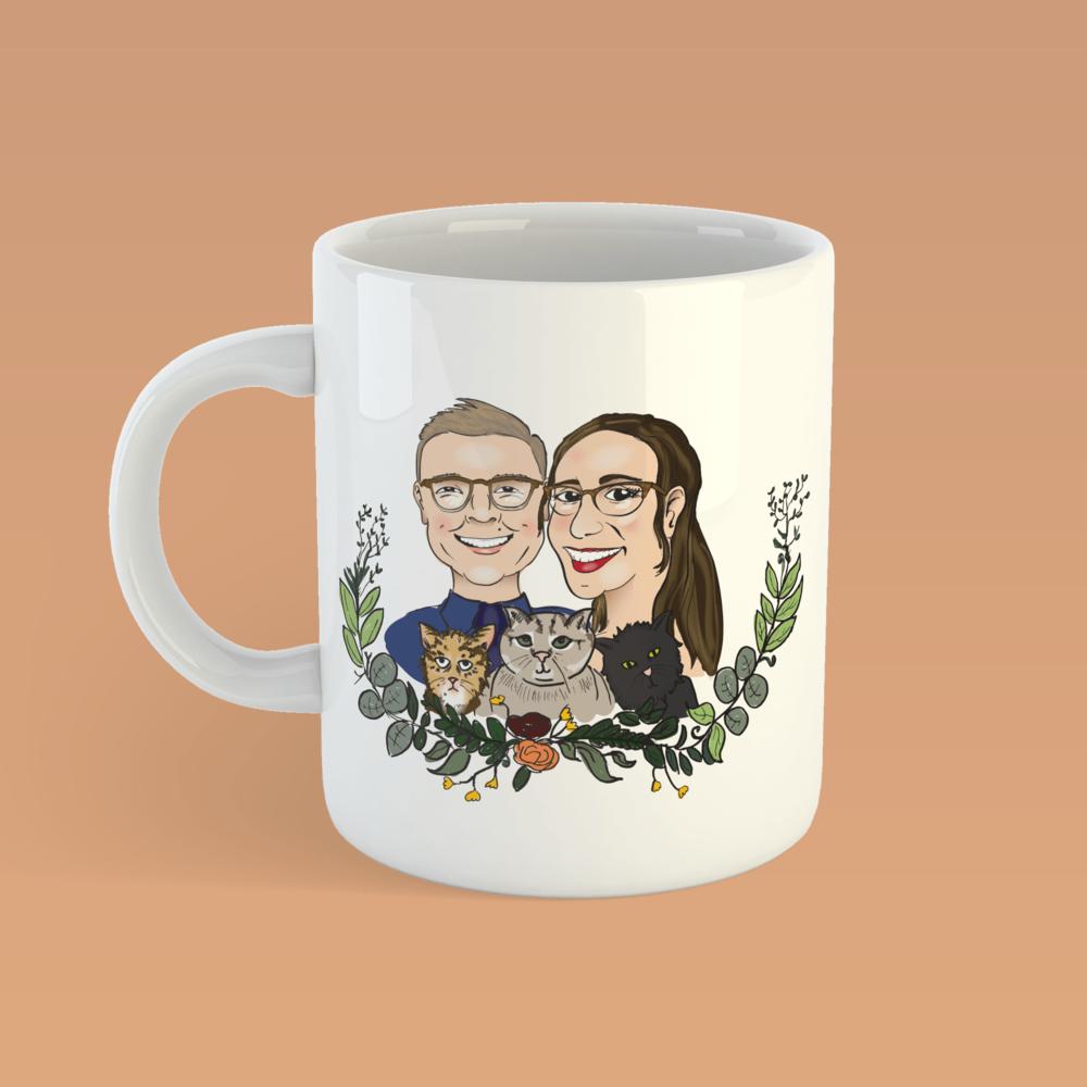 Annie & Laura  - Original Illustration, Wedding Favor