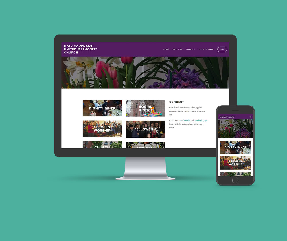 Holy Covenant United Methodist Church  - Digital Brand Identity, Website Design
