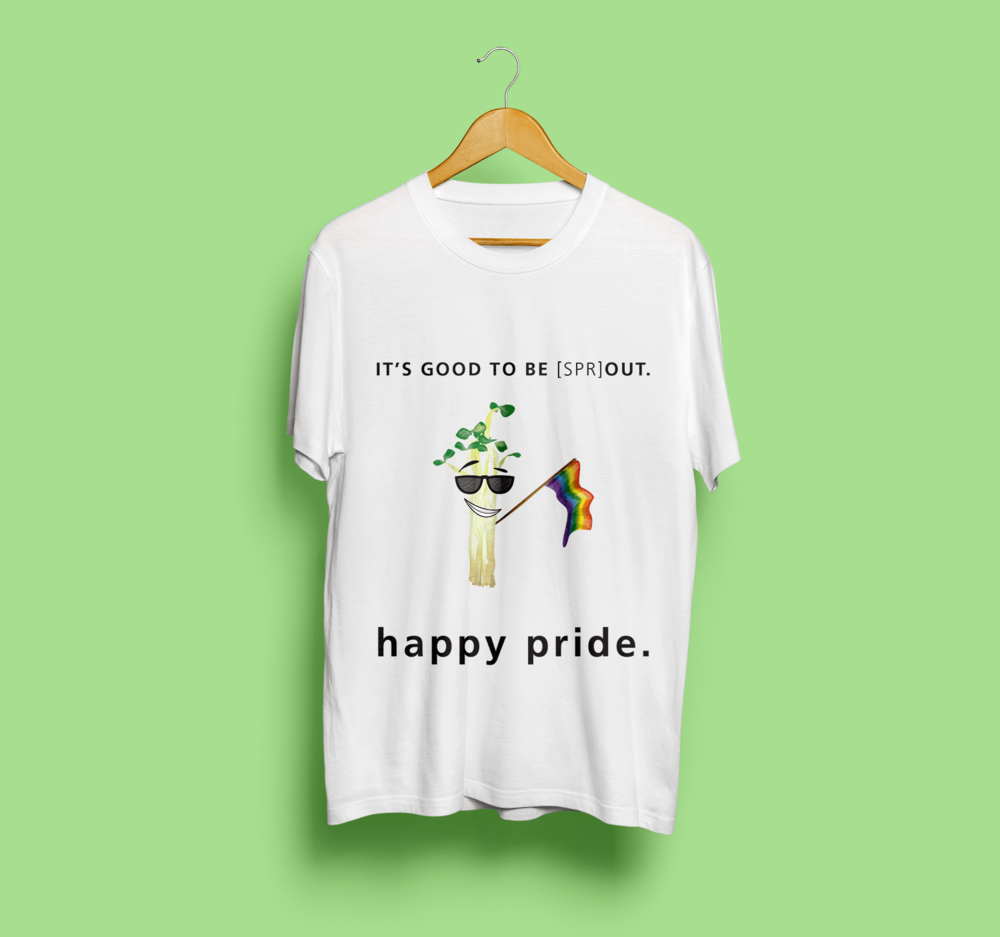 """""""It's Good To Be [spr]OUT""""  - Pride T-Shirt Design"""