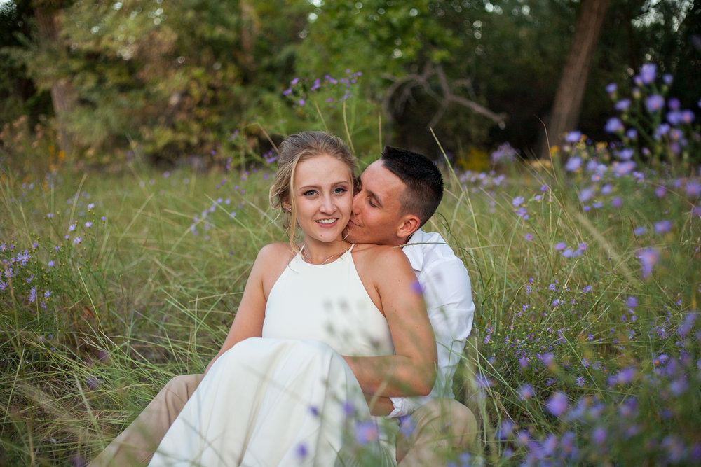 Gorgeous intimate fall elopement in Albuquerque New Mexico.
