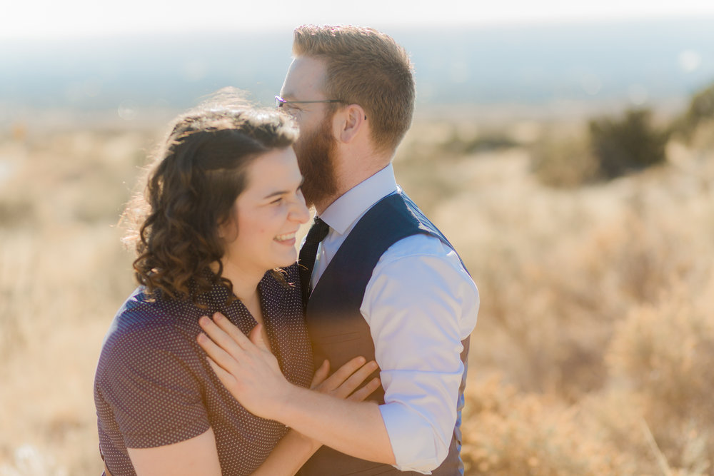 Engagement in the foothills of Albuquerque shot with Keara Lloyd photography