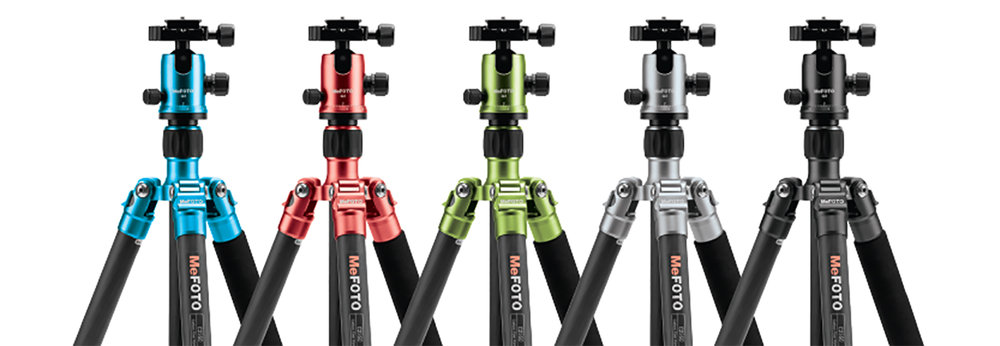 Check out the great colour range for the Globetrotter Tripod