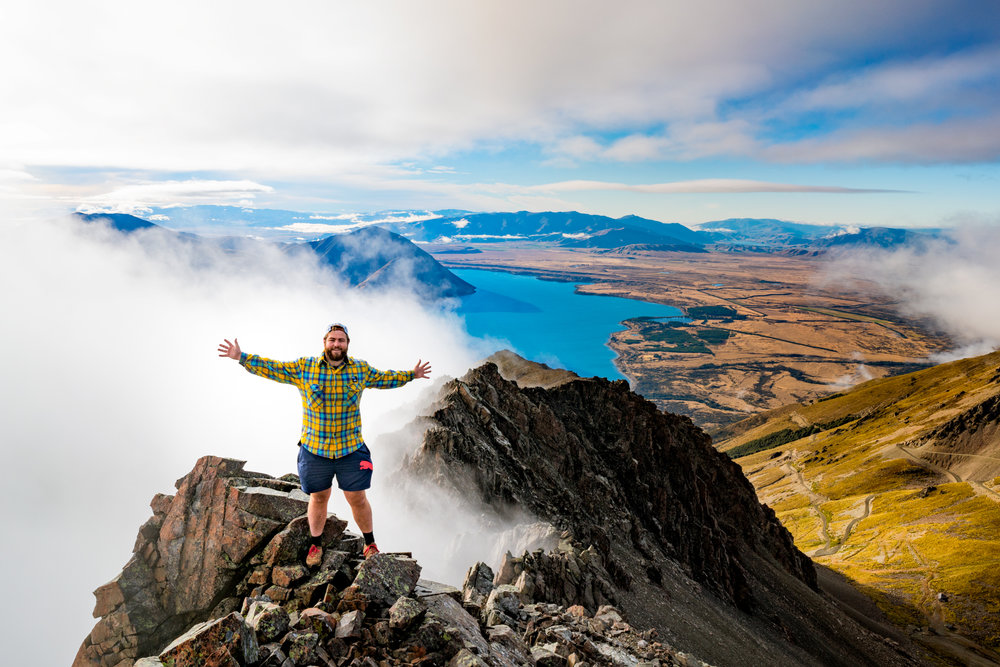 Talman Madsen: Finding myself at home with this breathtaking view from high above Lake Ohau.