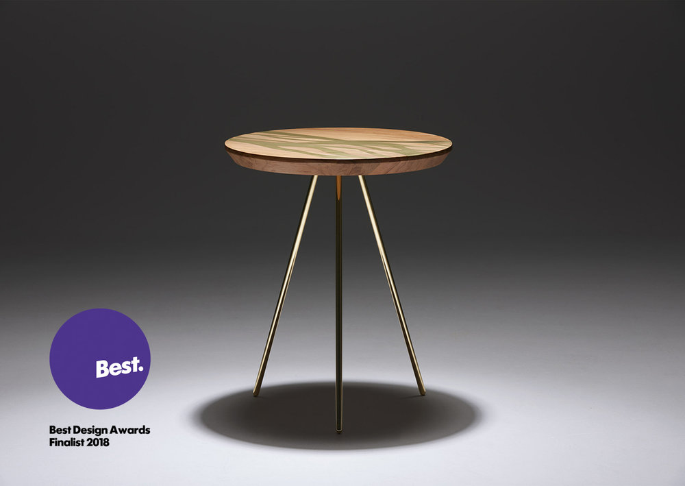 The Flow Side Table  -  The Flow Collection 2018  finalist in the Product Design category in the Best Design Awards 2018. Excellence in design.
