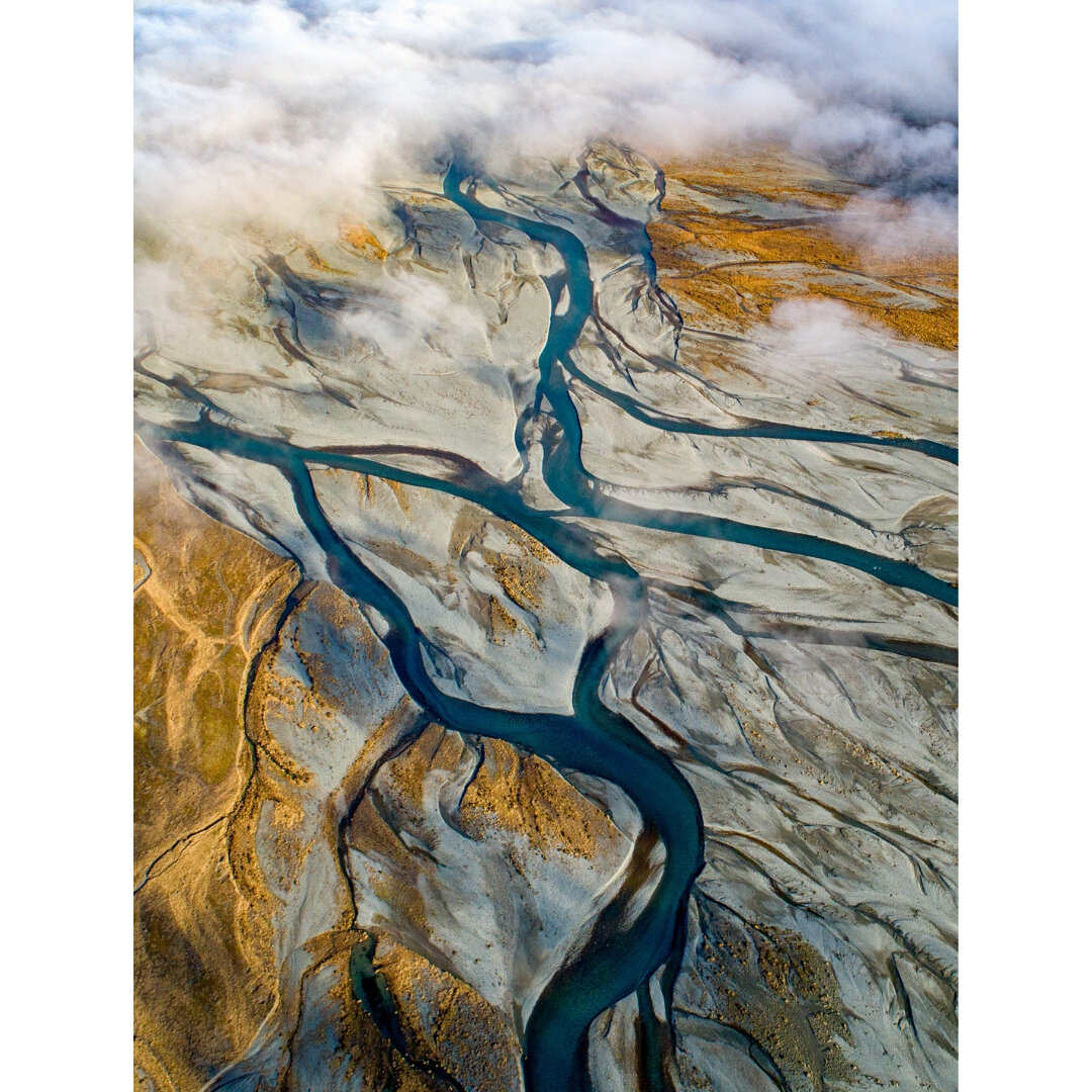 The braided rivers of the South Island of New Zealand which inspired the FLOW Collection. Photo courtesy of Talman Madsen.
