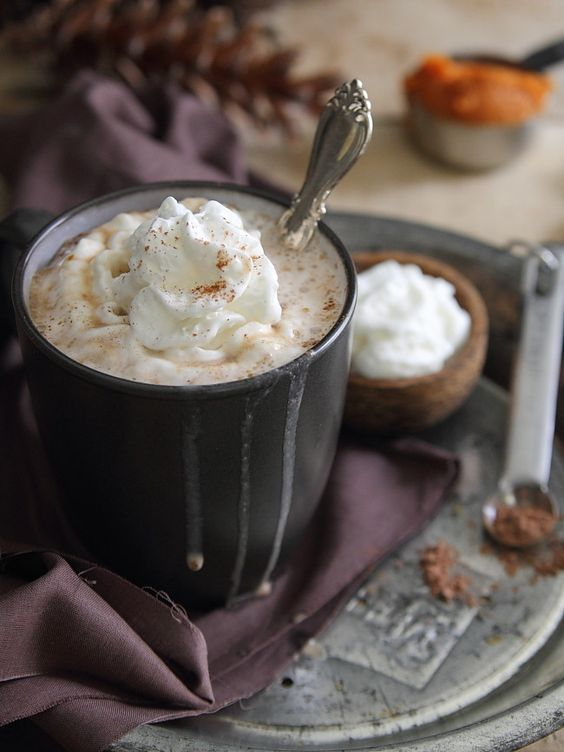 Pumpkin Hazelnut Hot Chocolate