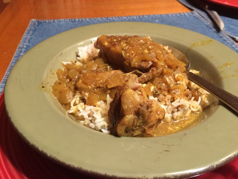 Goat chops in a Jamaican-style recipe