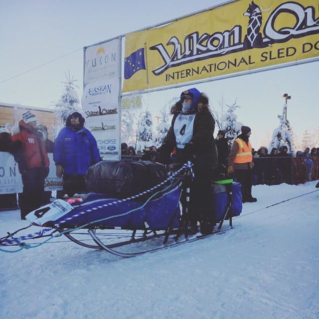 So much love and respect for our dear friend Christine for her efforts during the Yukon Quest International dog sled race. 🏁 🐕