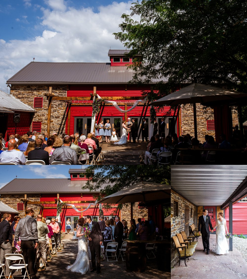 While the barn wasn't the intended ceremony backdrop, I think it turned out perfectly.