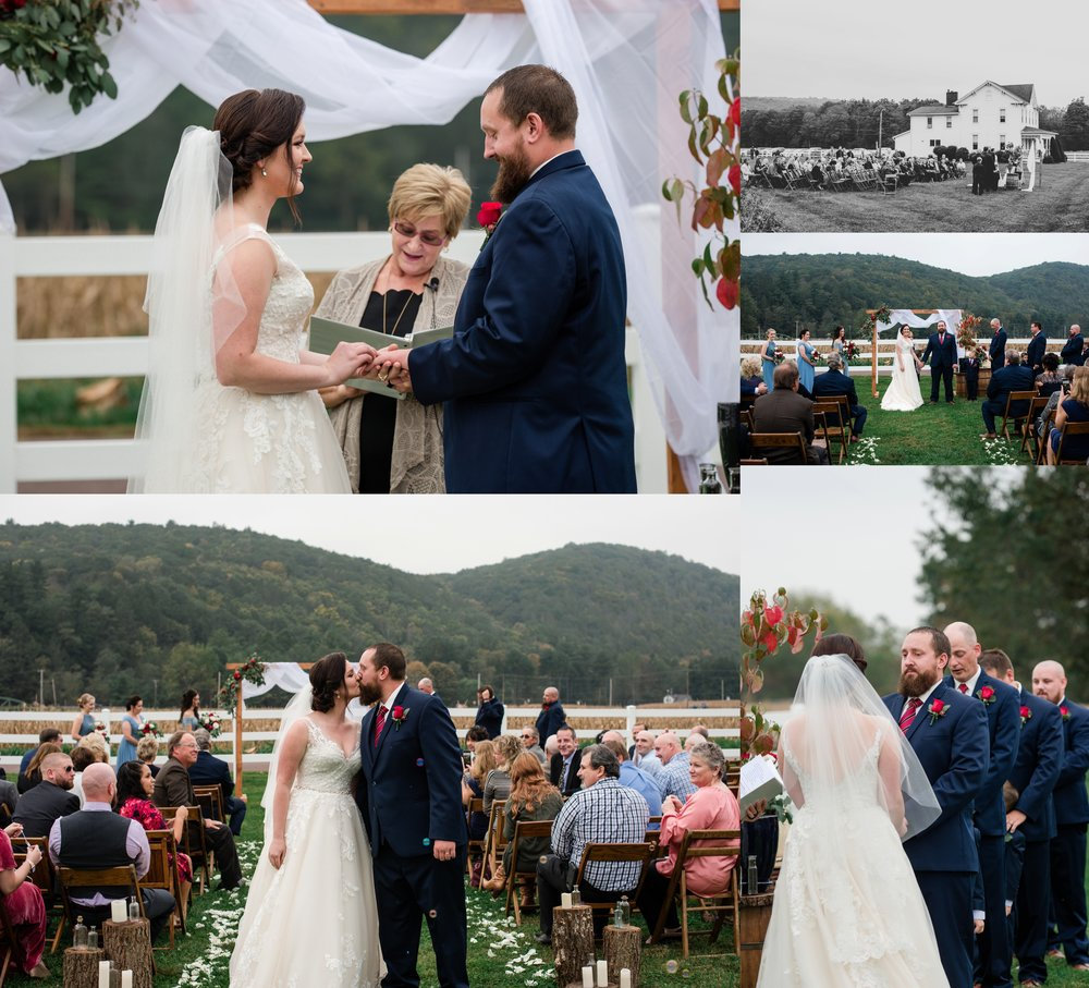 This outdoor ceremony was full of emotion. <3