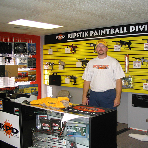 SEPTEMBER 2004 - After a long run at Coca-Cola and a couple years of developing the RIPSTIK brand, I opened a brick & mortar sporting goods store under the name Ripstik Paintball Division. This really was a fun time in my life, it was a rewarding challenge to open the store on limited budget and resources, then see it flourish early on.