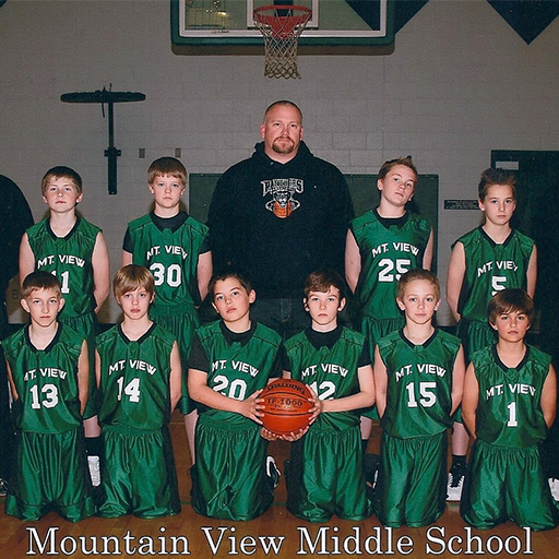 JANUARY 2011 - I have so many great memories from coaching basketball at MVMS. All the players pictured here have since graduated high school, four of them went on to win a Section Championship for Foothill High School as seniors in 2017, and I still have relationships with nearly all the players I coached during those years. I had the great joy of coaching both of my own sons at different levels at MVMS. In my 25 years coaching, the one and only undefeated season (so far) came in 2012 at MVMS when our team went 24-0.
