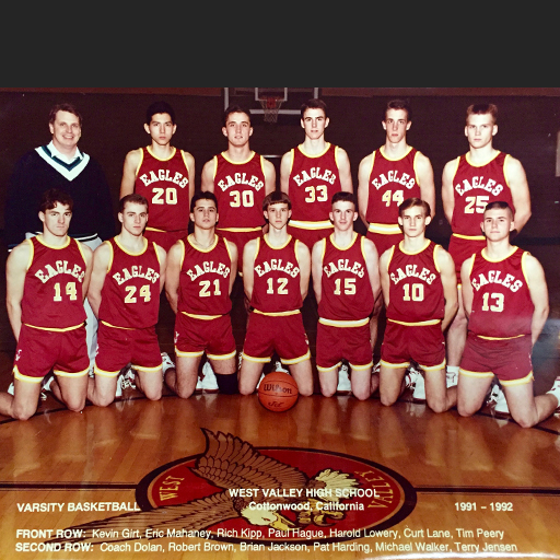 JANUARY 1992 - My senior year in high school was pretty special largely because of this team. The 1992 Varsity Boys Basketball team was the first to win League and Section Championships in school history (and the only team to win both still to this day). It was during this time I learned the power of intense teamwork and devoting everything to a common goal. Lessons that never left me.