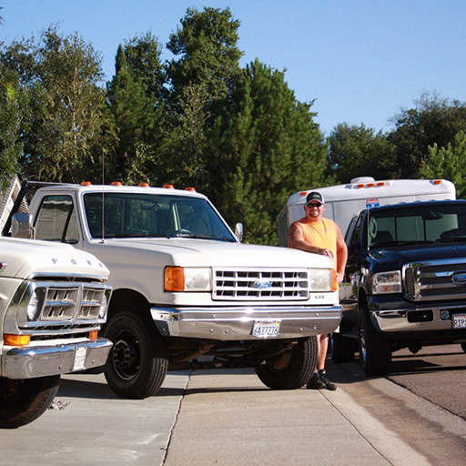 SEPTEMBER 2009 - Accent Landscaping was a licensed contractor company I developed in the waning months of closing my sporting goods store, and this picture was taken at a time when my company was one of the few flourishing during the housing collapse. During a photo shoot to update our website, I decided to pay homage to our generational mini-fleet of Ford trucks including a 1971, 1990, and 2005.