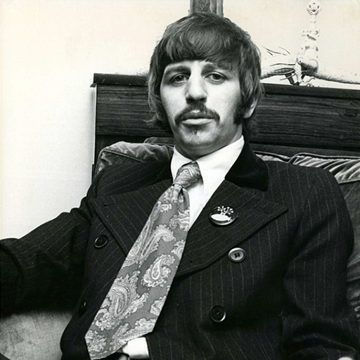 Ringo Starr, the world renown drummer from The Beatles, pictured here in 1967 at the time of the  Sgt. Pepper's Lonely Hearts Club Band  album release.  We do not own this image, we found it  here .