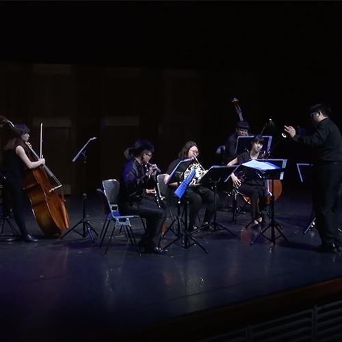 《Segment - 日常切片》- for Wind Quintet and 2 Double Basses - 這四個樂章是我 2016 上半年重要日常事件的寫照。Mov.1 管弦樂法報告Mov.2 天香樓Mov.3 [    ]Mov.4 未來會一直來一直來