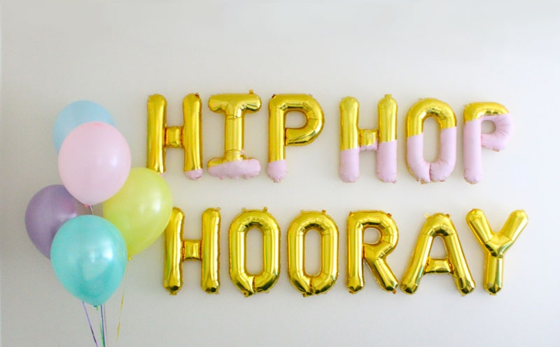 Hip_Hop_Hooray_balloon_letters
