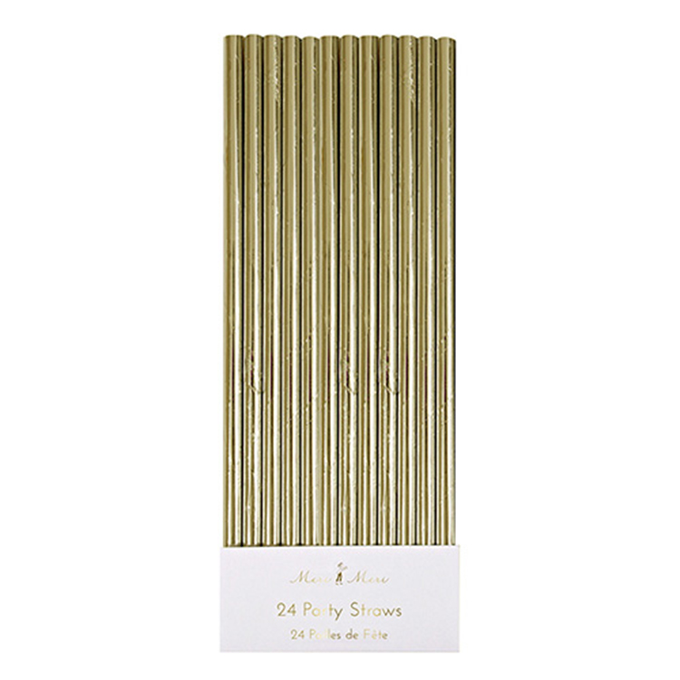 Gold Foil Paper Straws - Environmentally friendly and a stylish compliment to any party theme, who says you can't have it all?!