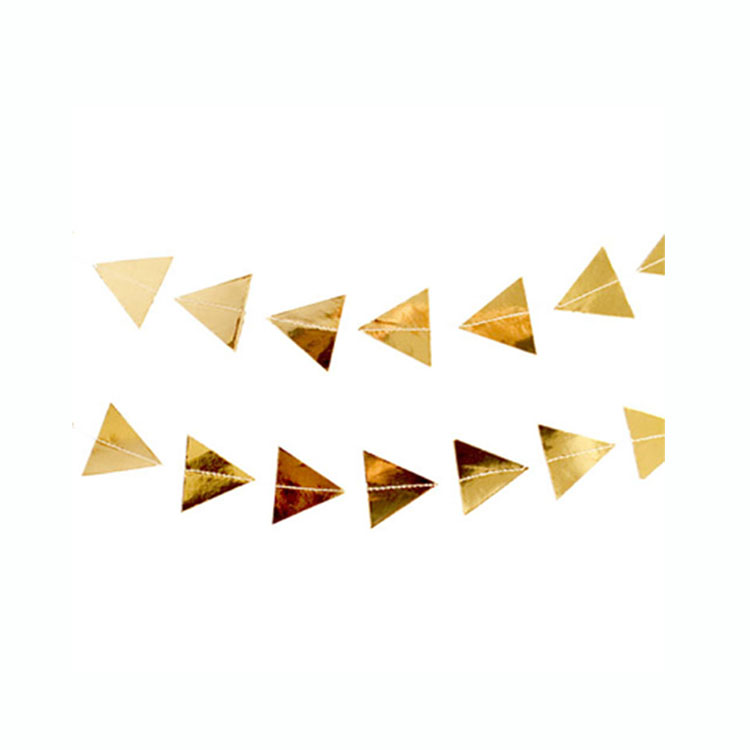 "Triangle Gold Garland - A photographer once told us that ""angles are everything"", so we are bringing you lots of them with this new product!"