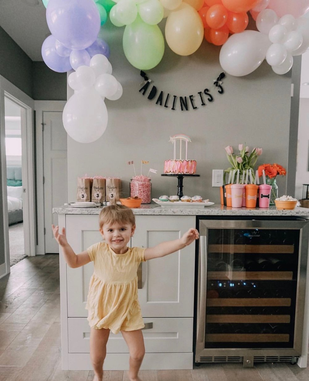 Adaline looks pretty pleased with her customized 3rd birthday party. We look forward to seeing what your happy dance looks like once your custom party box comes to life!