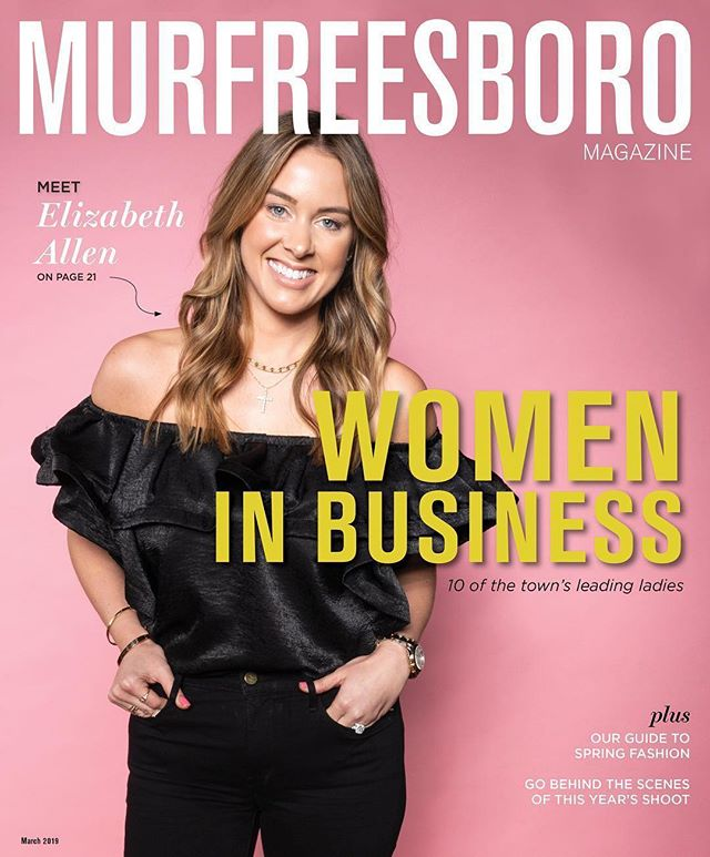 #Repost @murfreesboromag ・・・ #GirlBoss alert: Our 2019 Women in Business issue is here, featuring *the* Elizabeth Allen of @eallenboutique! Pick up a copy to read about this year's group of 10 inspiring ladies! Plus, you'll get a behind-the-scenes look at our shoot, and be sure to check out our spring fashion guide. // 📸: @vinestudiosboro