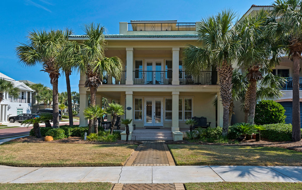 4749 Ocean Blvd - Renovated 1st tier Mediterranean beach home with permanent Gulf views in Destin's exclusive Gulf-front community.