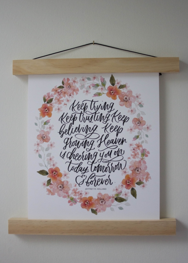 Letters and Laurels - 3. Letters and Laurels: I know lettering is all the rage, but this girl has such a unique and beautiful style. I have a couple of her prints, and am loving them up in my little girls room! For 20% off use code smallseed until the 15th!