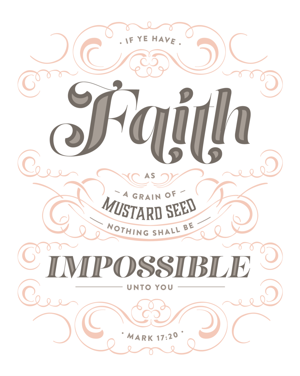 Faith As A Mustard Seed (peach)