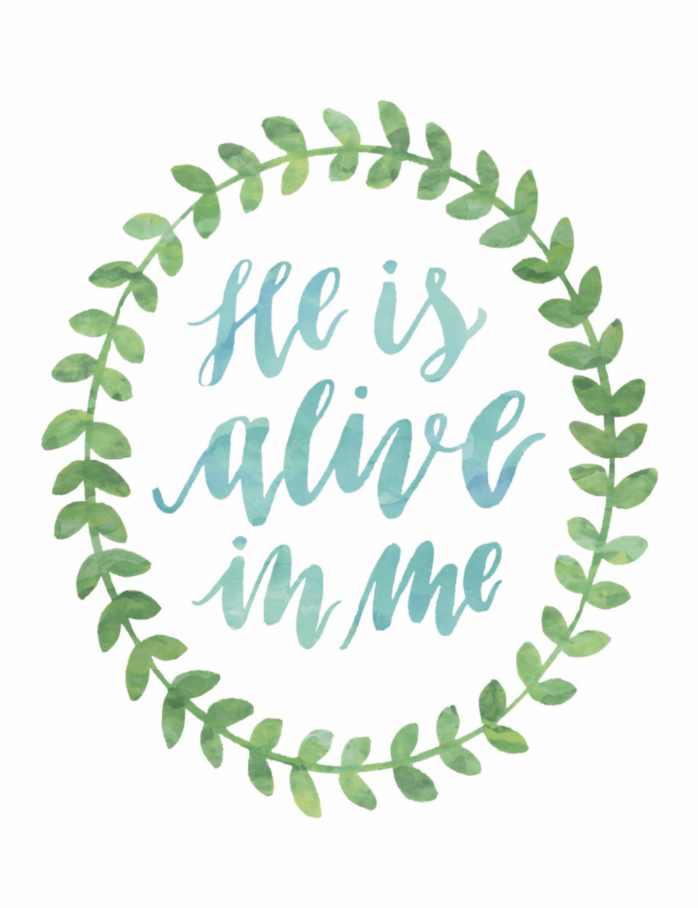 He Is Alive In Me