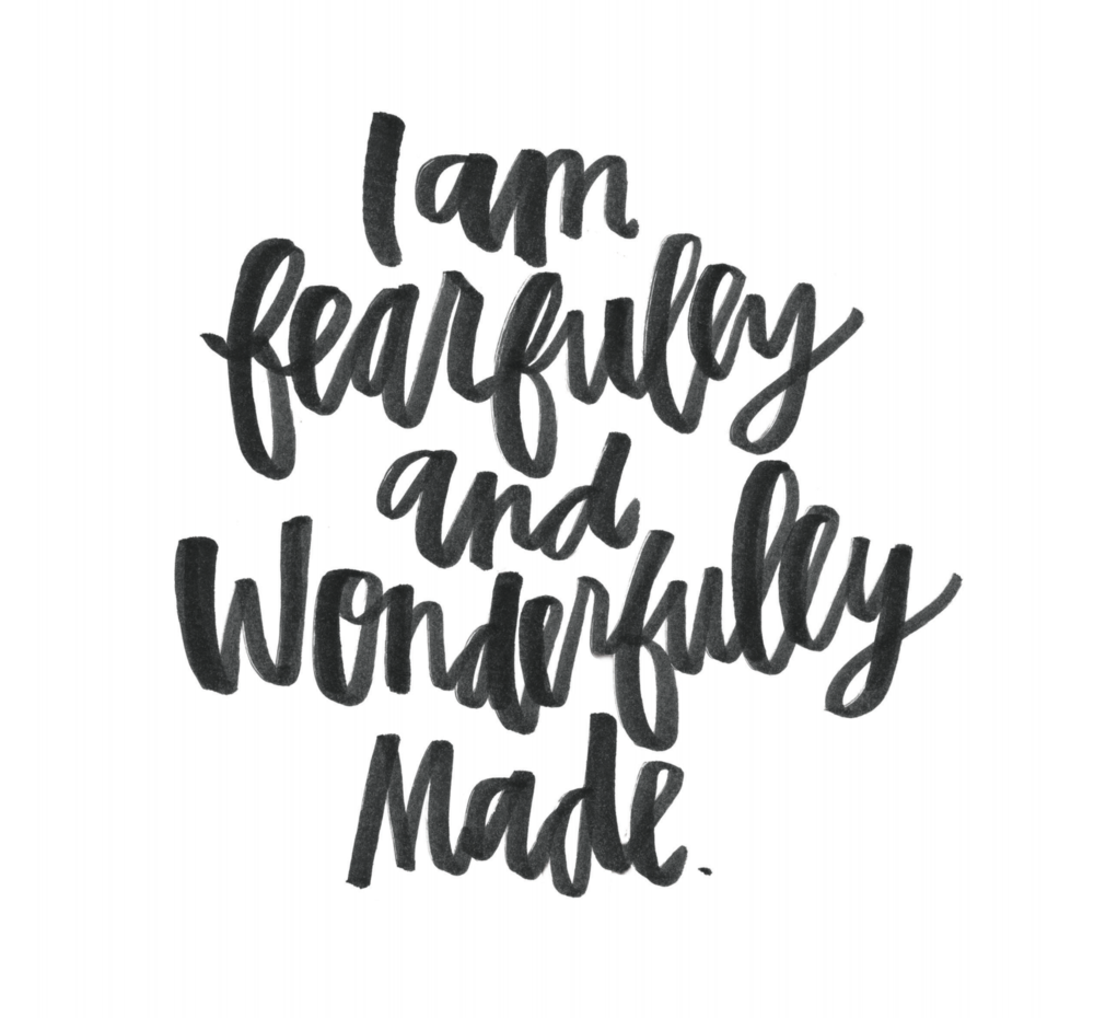 Fearfully And Wonderfully Made (white)