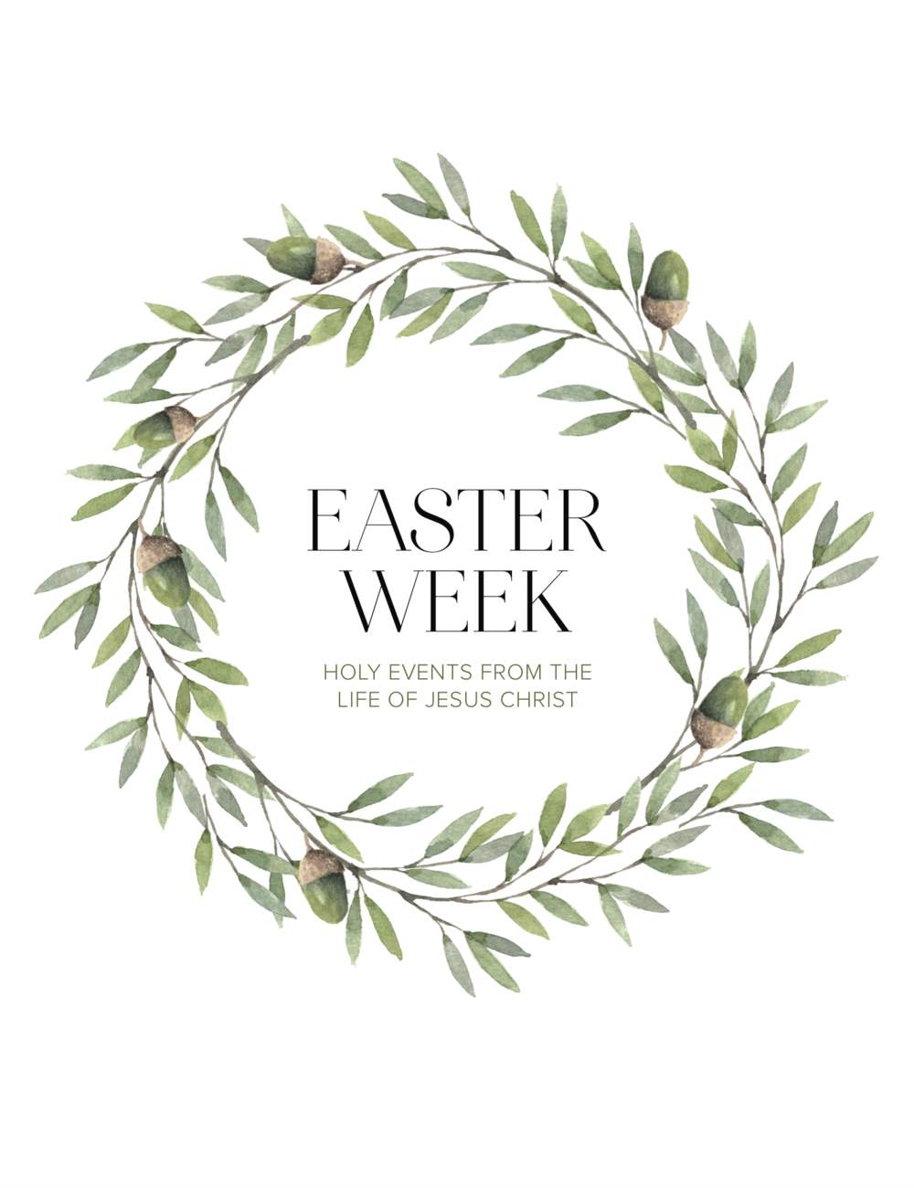 Easter Week (daily devotionals)