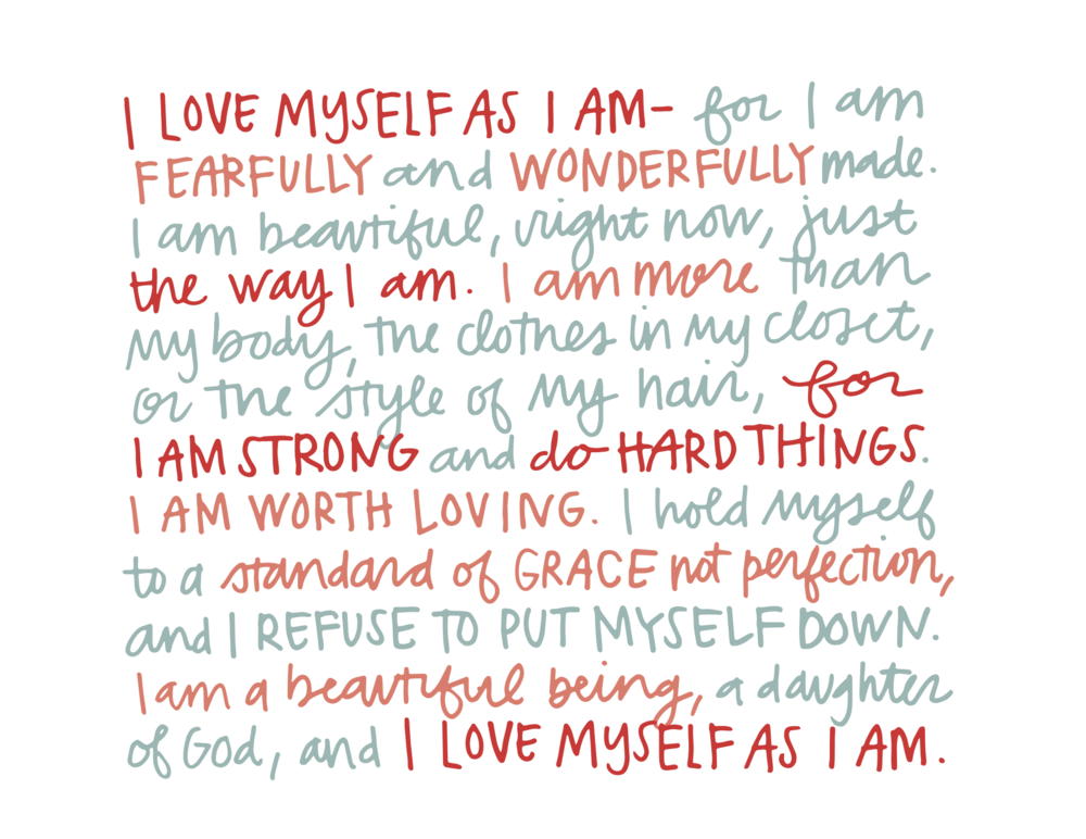 Choosing To Love Myself (print)