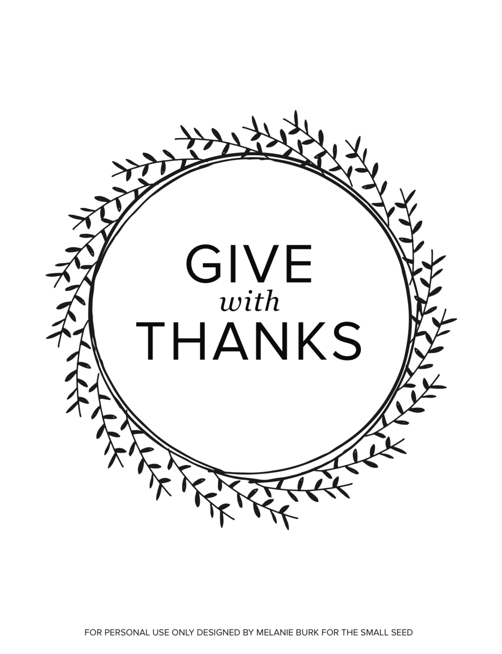 Give With Thanks Wreath (white)