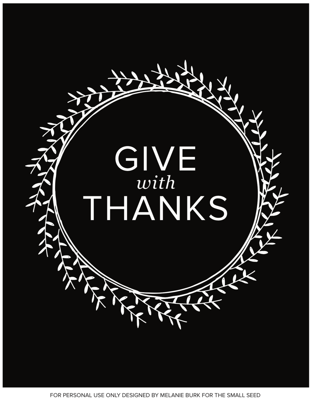 Give With Thanks Wreath (black)
