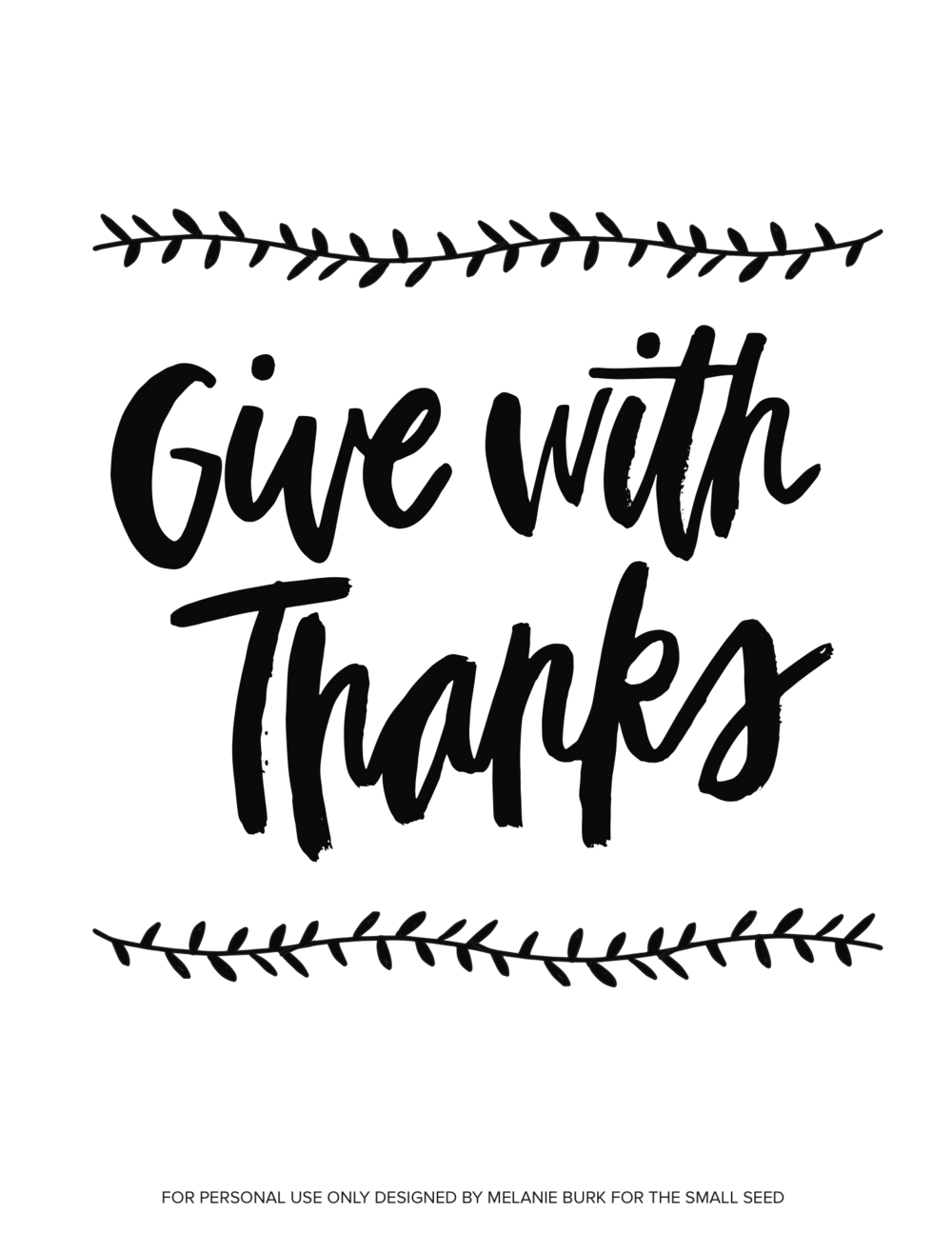 Give With Thanks (white)
