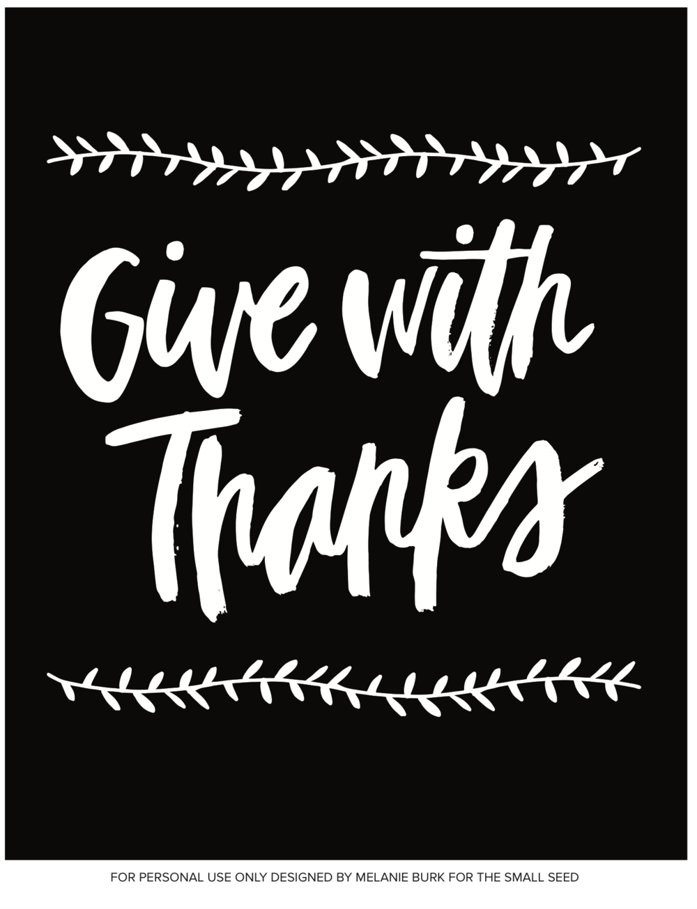 Give With Thanks (black)