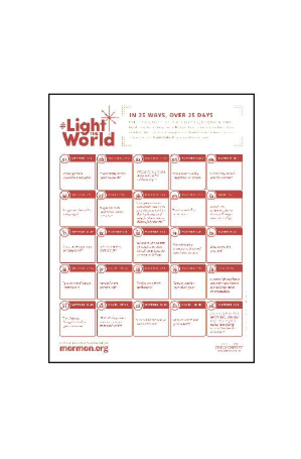 Light The World 25 Day Calendar