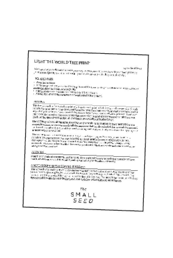 Light The World Printing Instructions