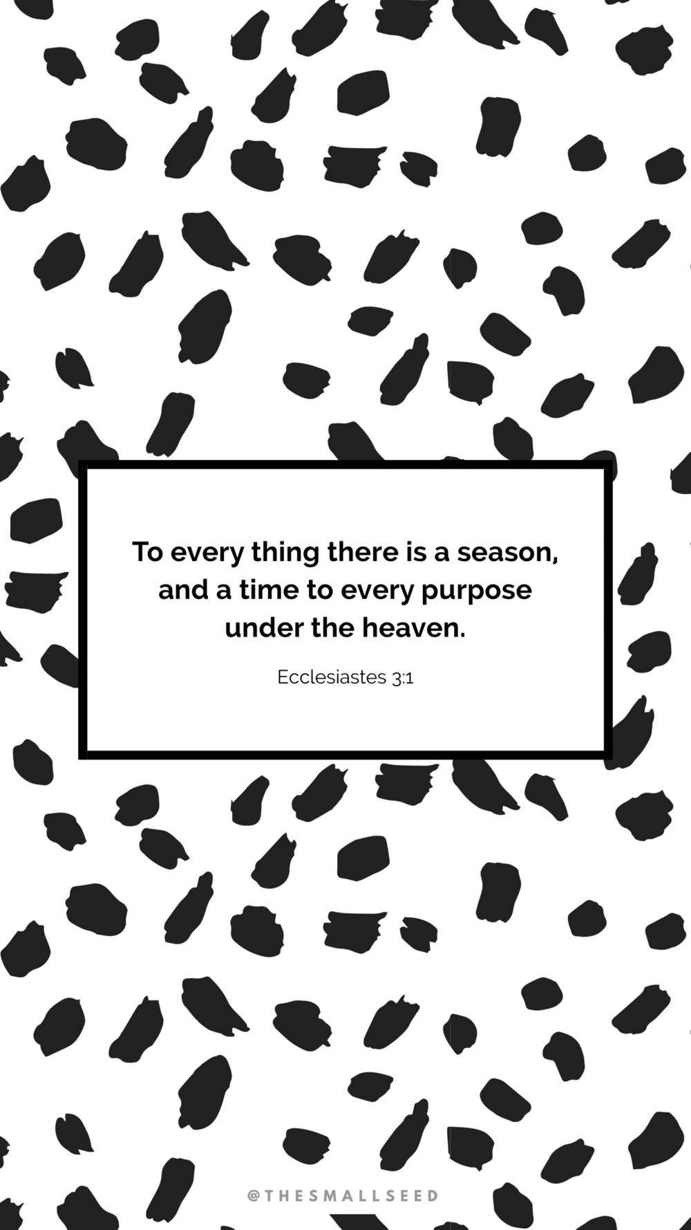 A Time To Every Purpose