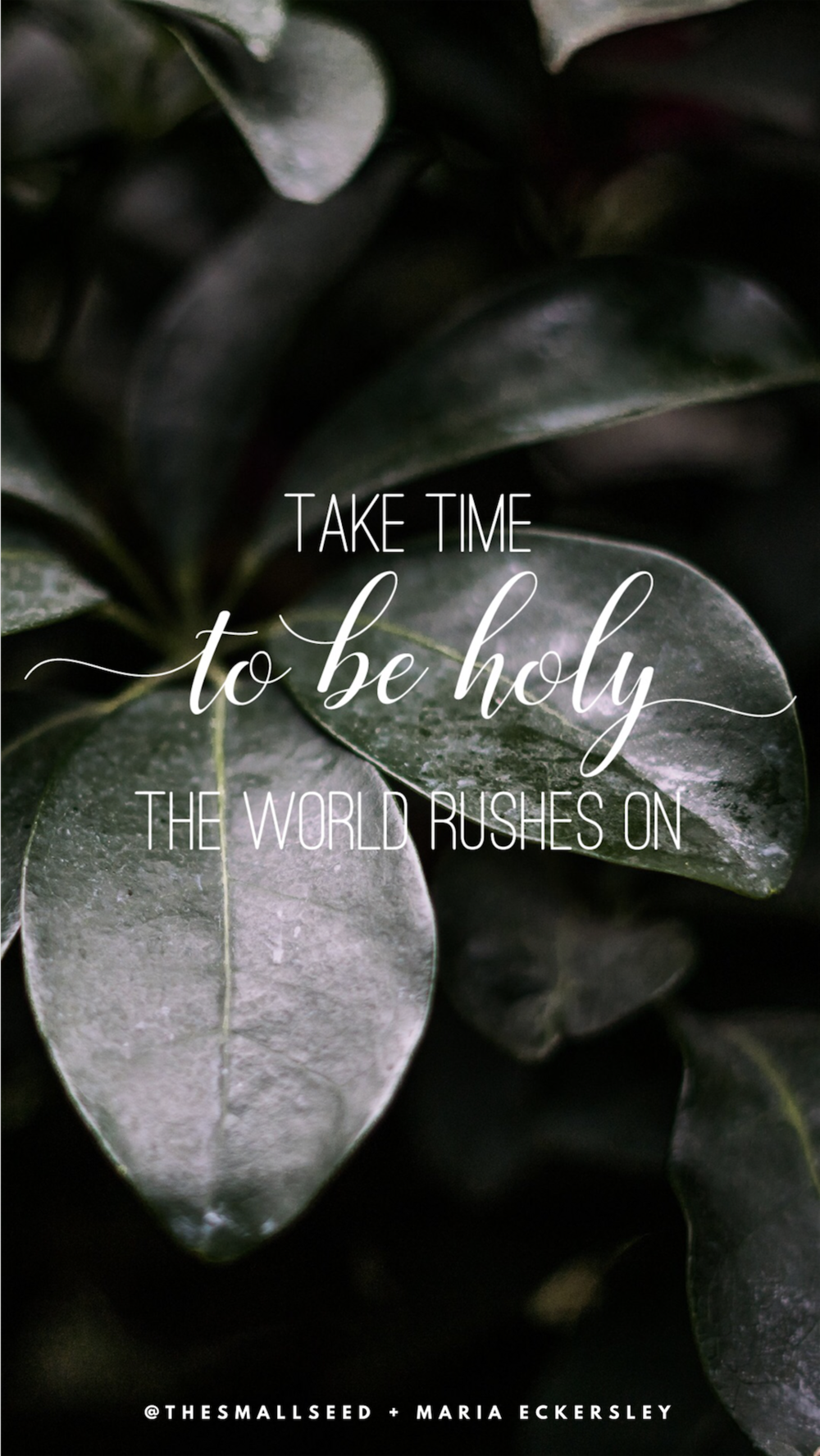 Take Time to Be Holy*