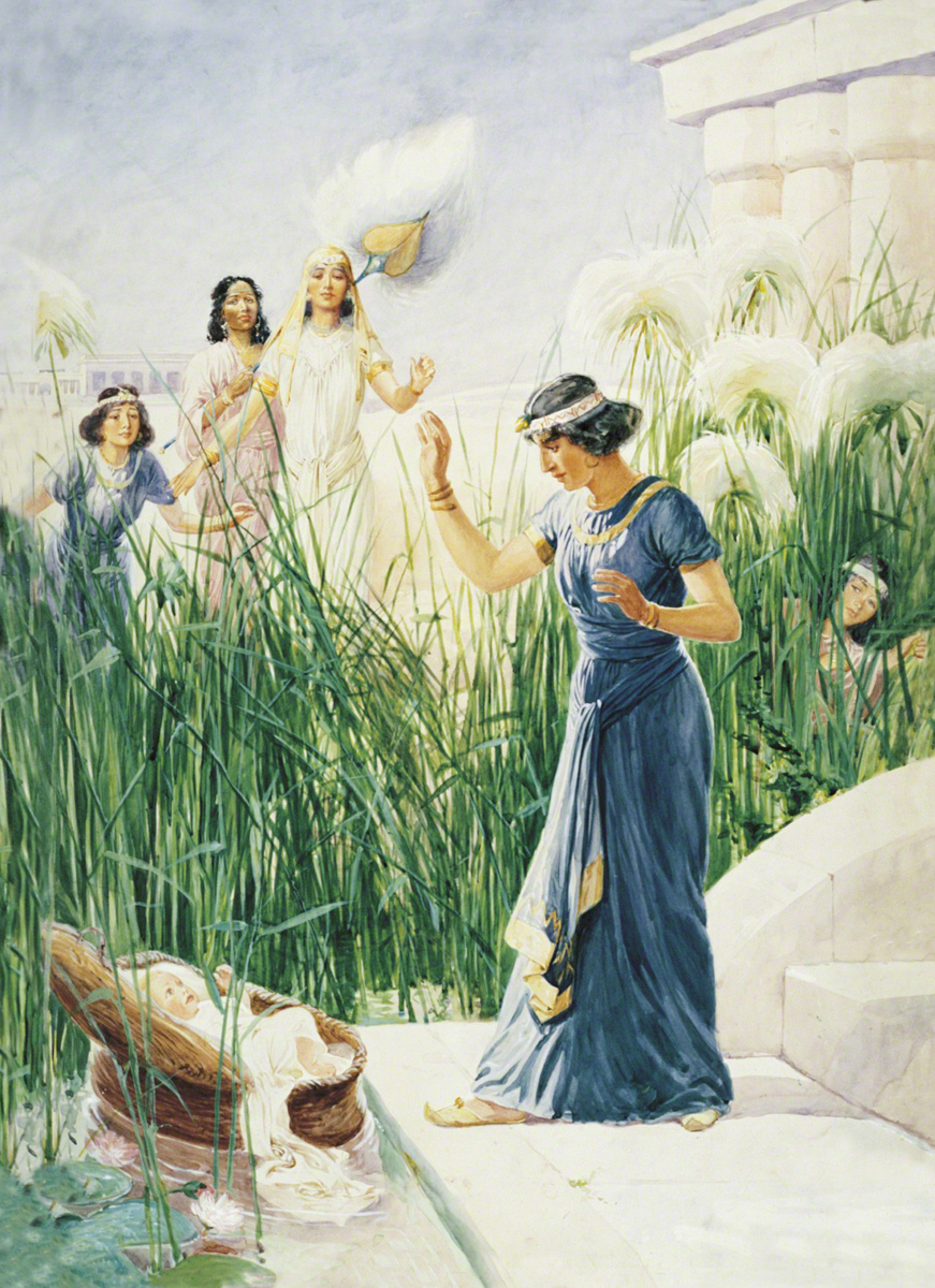 Moses in the Bulrushes  by  George Soper .