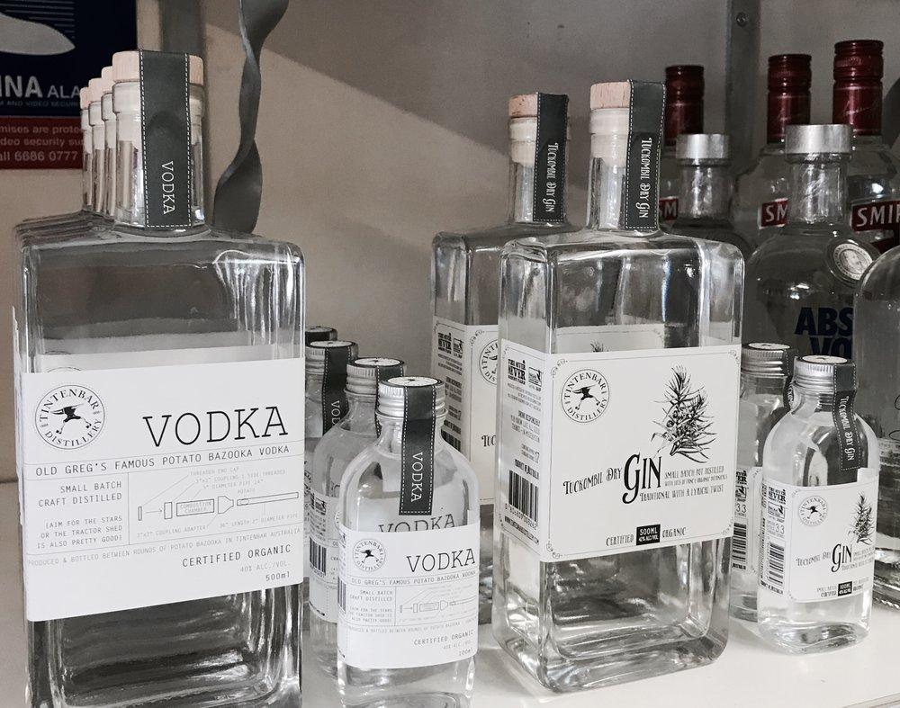 Vodka & Gin now available at Tintenbar Store