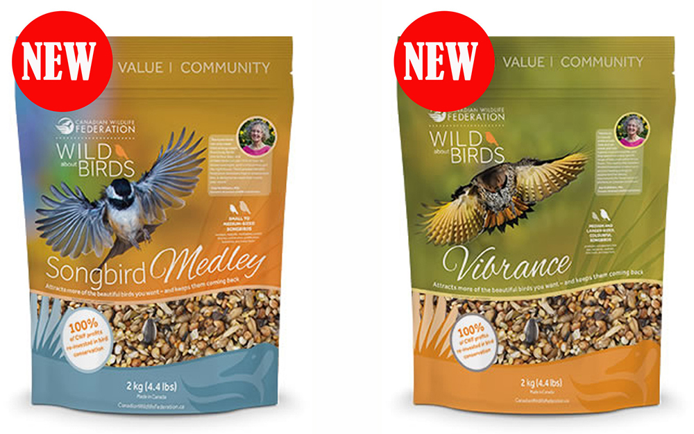 - Canadian Wildlife Federation have used 2 of my images on their recently launched brand of Birdseed. We wish them every success with this venture.